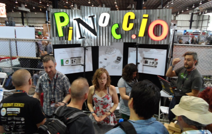 Pinoccio exhibit at Maker Faire 2014